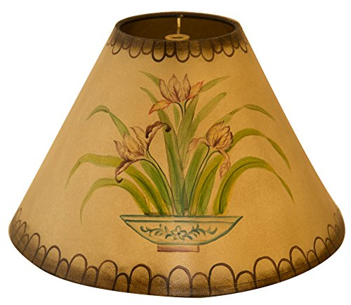 hps hand painted tropical lamp