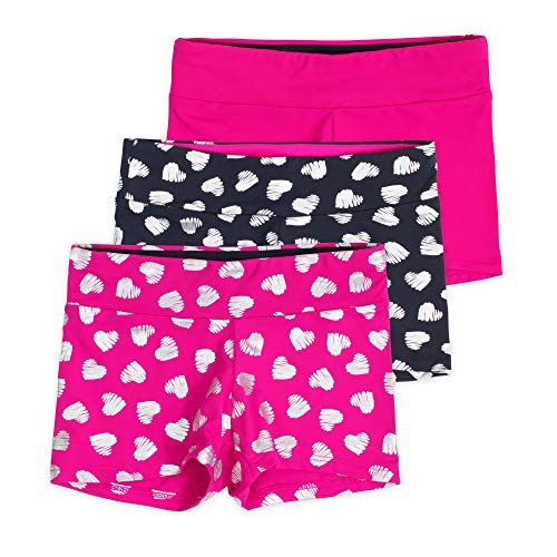 Layla Girls Dance Shorts, Gymnastics & Dancewear, 3-Pack, Jazzy, 4/5
