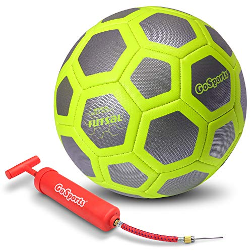GoSports Elite Futsal Ball - Great for Indoor or Outdoor Futsal Games or Practice - Choose Between Single or Six Pack - Includes Pump