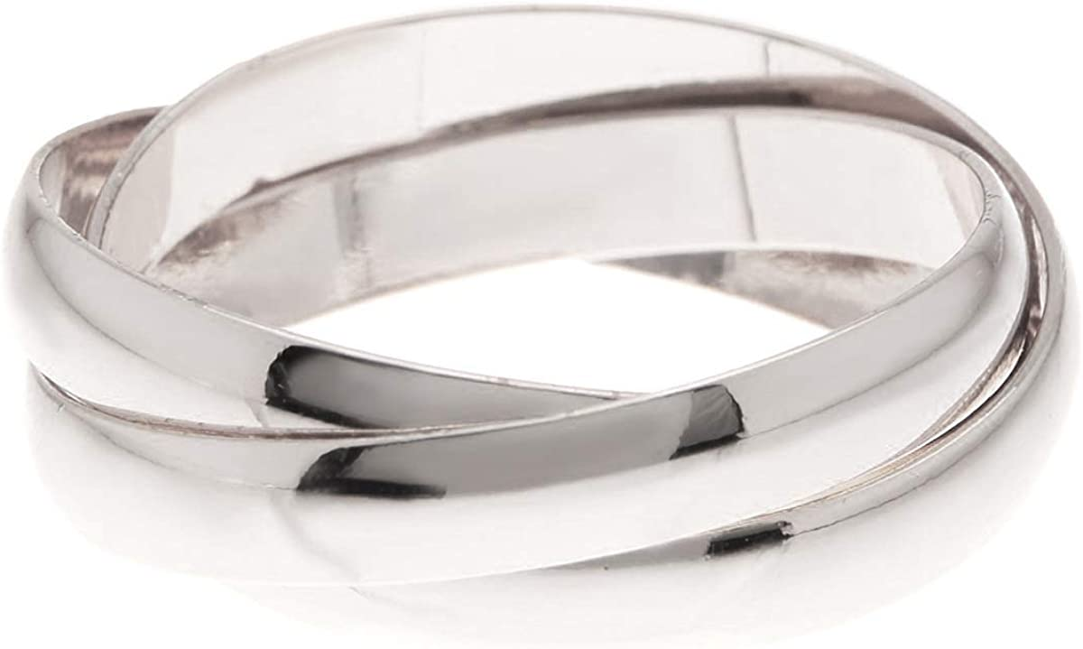 Gemaholique Silver Clad Triple Band Ring