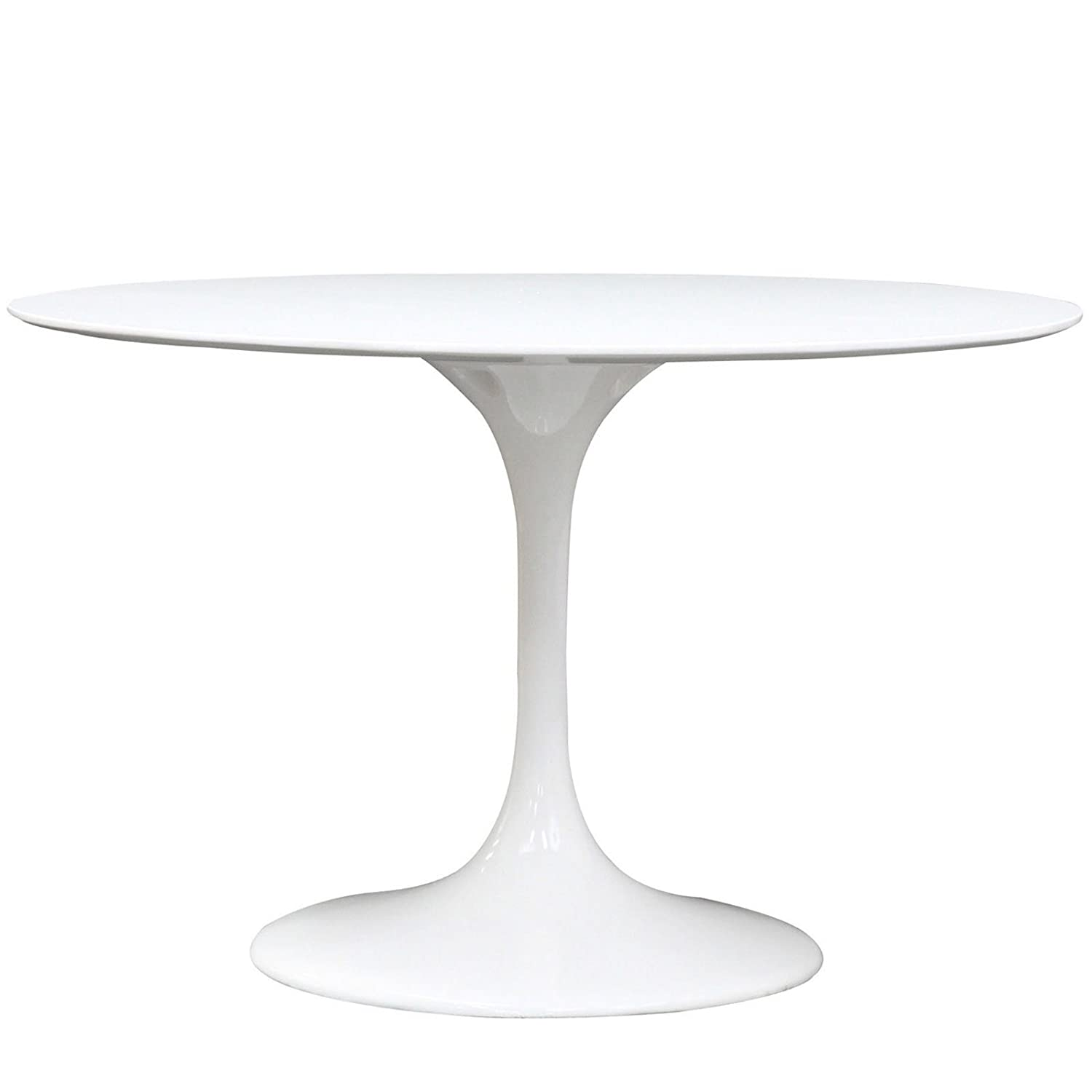 Amazoncom Modway Lippa Inch Round Fiberglass Dining Table In - 48 inch round contemporary dining table
