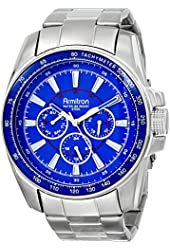 Armitron Men's 20/4959BLSV Multi-Function Blue Dial Silver-Tone Bracelet Watch