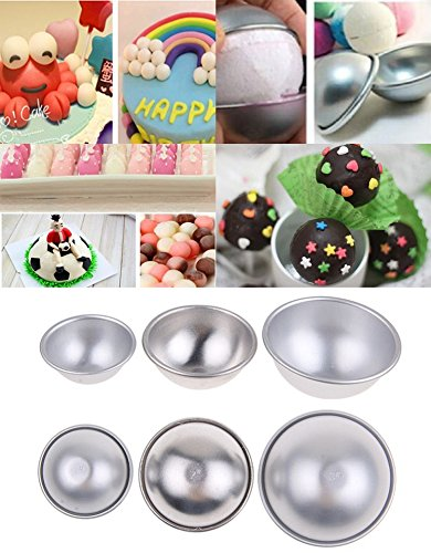 Hemisphere Ball Cake Pans Half Round Ball Sphere Cake Pudding Mould Baking Tools Set of 3 Different Sizes