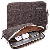 KAYOND Herringbone Woollen Water-Resistant for 11-11.6 Inch Laptop Sleeve Case Bag (11-11.6 Inches, Brown)