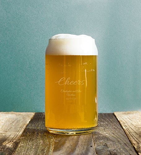 72 Pack Cheers 16 Ounce Custom Engraved Beer Can Beer Stein, Wedding Favor Anniversary Bridal Shower Favors (Wedding Anniversary Stein)