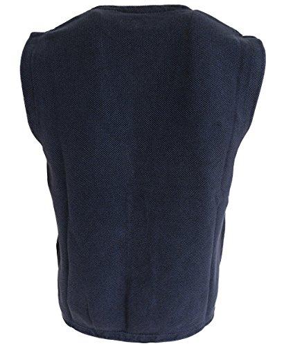 Baileys modisch maskuline Strickweste blau uni Struktur 712007-305