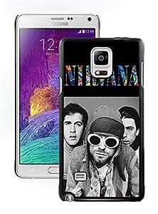 New Unique DIY Antiskid Skin Case For Samsung Note 4 nirvana Samsung Galaxy note 4 black 316