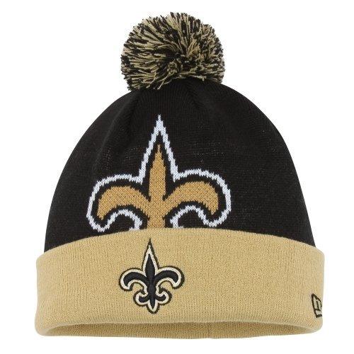 (New Orleans Saints New Era NFL Woven Biggie 2 Cuffed Knit Hat)