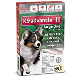 K9 Advantix II Flea Control for Dogs 21-55 Pounds (6 Applications)