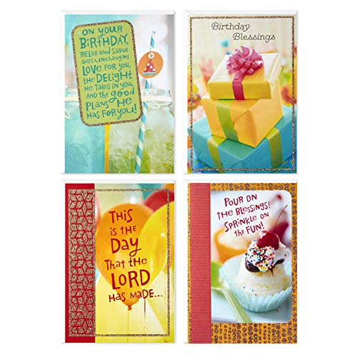 Assorted Religious Birthday Cards, Dayspring (Christian Blessings, 12 Cards and Envelopes)]()