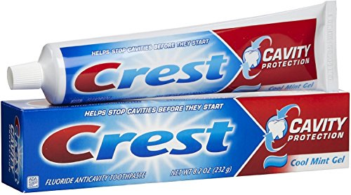 Crest Cavity Protection Toothpaste Gel Cool Mint 8.20 oz (Pack of 3)