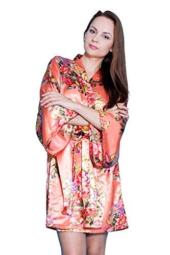 Taniri Satin Floral Kimono Robes for Bride and Bridesmaids Wedding Party Bridesmaid Gifts 14 Colors