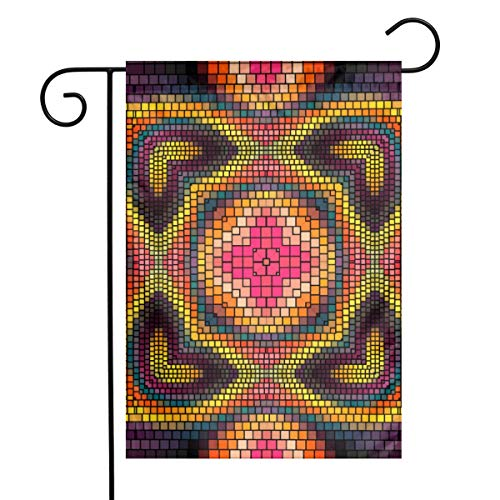 (Gflag9695 Garden Flag for Outdoor Decoration Kaleidoscope Art Courtyard, Garden, Flowerpot Thicker)