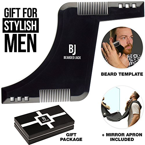 Price comparison product image Beard Shaping Tool - Beard Lineup Tool - Fathers Day Gifts - Beard Comb for Men - Beard Bib and Apron - Beard Line Shaping Tool - Beard Template Tool - Beard Shaping Tool Kit - Beard Gifts for Men