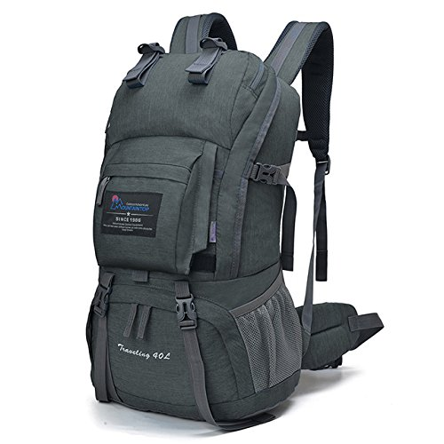 Mountaintop 40 Liter Hiking Backpack for Outdoor Camping (Gray2)