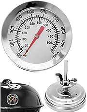 HomeTools.eu® - Odporny na temperaturę termometr analogowy do grilla, do doposażenia garnków do grilla, wędzarni, pieca wędzarniczego, 10°C - 500°C