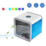 Air Cooler 3 in 1 USB Mini Portable Air Conditioner Humidifier Purifier and 7 Colors Nightstand Desktop Cooling Fan for Office Home Outdoor Travel