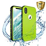 Waterproof Case iPhone Xs Max,Shockproof Dustproof Snowproof Heavy Duty Case with Built-in Screen Protector Full Body Rugged Cover for iPhone Xs Max 2018 Released 6.5 inch (Green)