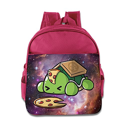 Pizza Turtle Kids Backpack School Bag For Boys/girls Pink (Tote Hollister Bags)