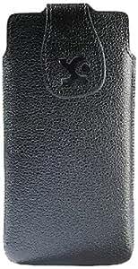 Suncase - Funda para HTC Desire SV SIM Dual, color negro