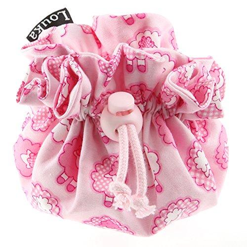 Louka Pochette à Tétine moutons rose Baby, Garçon & Fille–Sucette clip Box Boîte pour rangement de la sucette