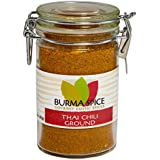 Ground Thai Chili in Glass Spice Preserve Bottle, integral to Thai Cuisine (1.5oz.)