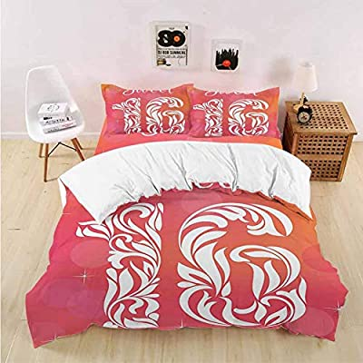 PRUNUSHOME Hotel Luxury Bed Sheets Greeting Happy Birth Pattern with Classic Effects Artwork Dark Coral Scarlet Hypoallergenic Bed Sheet Set and Pillow Case Set - Queen