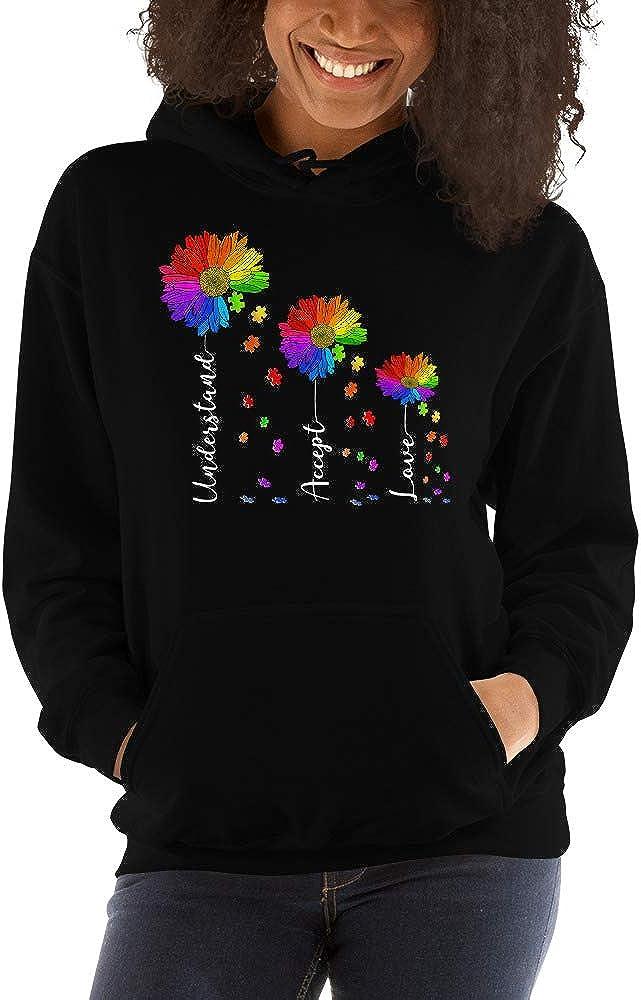 Daisy Flower Understand Accept Love Autism Awareness Unisex Hoodie