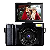 Digital Camera Camcorder Full HD 1080p 24MP Video Camera 3.0-Inch LCD Mini Vlogging Camera With UV Lens