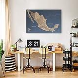 Mapas de México en Corcho. El mejor regalo para el ama viajar