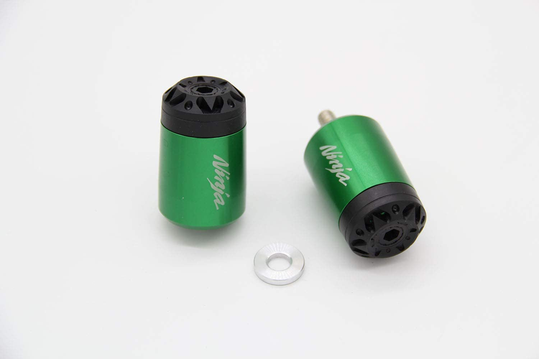 Green Kanoxbaiku For Kawasaki ZX-6R ZX10R ER-6F Ninja 250 300 400 1000 Handle Bar End Slider Plug Hand Grip Caps