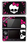 Cute Pink Skull Punk Monster Bow Tie Video Game Vinyl Decal Skin Sticker Cover for Original Nintendo 3DS System