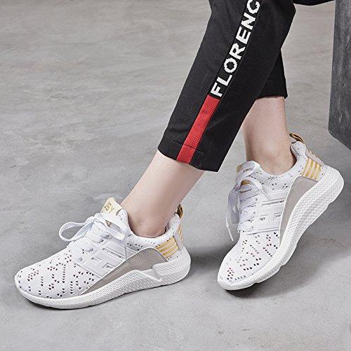 Mujeres Pares De Ocasionales Yellow Deportes Las Calzan Zapatos Zapatos Calzan Blancos amp;G Los Respirables NGRDX Los White R578xwIq