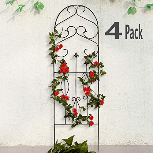 Amagabeli 4 Pack Garden Trellis for Climbing Plants 60