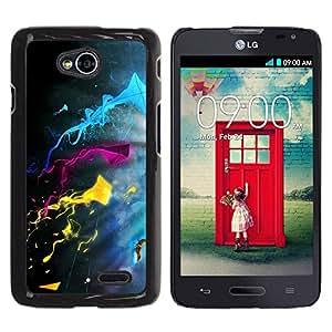 Be Good Phone Accessory // Dura Cáscara cubierta Protectora Caso Carcasa Funda de Protección para LG Optimus L70 / LS620 / D325 / MS323 // Color Splash
