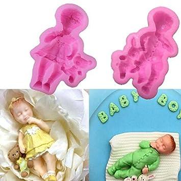 Bonytain - Molde de silicona para tartas de bebé, diseño de oso de Barbie: Amazon.es: Hogar