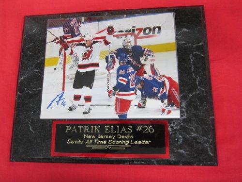 Patrik Elias New Jersey Devils Autographed 8x10 Plaque Photo GOAL vs RANGERS - Plaque Jersey New Devils