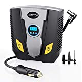 JUMTOP 12V DC Digital Tire Inflator Air Pump, 150 Psi Electric Portable Air Compressor Pump with Gauge for Car, Truck, Bicycle or Basketballs, Air Bed Mattress and Other Inflatables