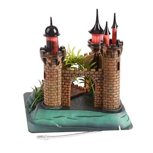Saim Aquarium Plastic Resin Castle Ornament Live Action Aerating Fish Tank Decoration