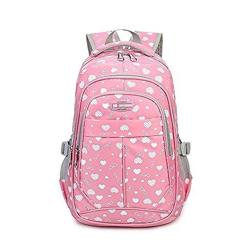 Sweetheart School Backpacks for Girls Children Kids Bookbags (Pink) - Pink Kids Bag