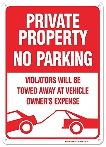 Letrero de la Valla del Garaje de la Propiedad privada sin ...