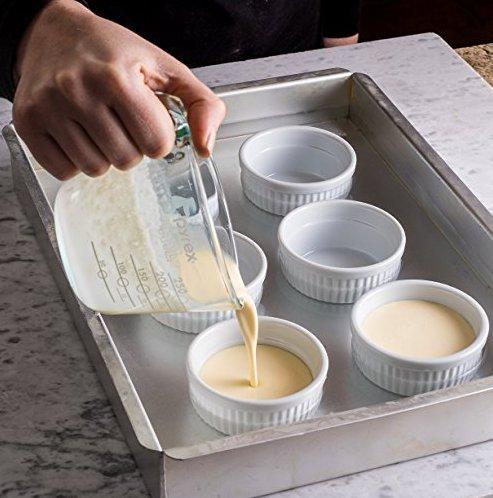 Accguan Set of 8 PCS 6 oz Round Porcelain Oven Safe Ramekin Dessert Souffle Baking Dish(3.5 INCHES) (White) by Accguan (Image #4)