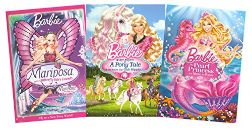 Barbie Collection # 4 (Barbie: Mariposa and her Butterfly Fairy Friends / Barbie: The Pearl Princess / Barbie: Her Sisters in A Pony Tale) (Pony Pearl)