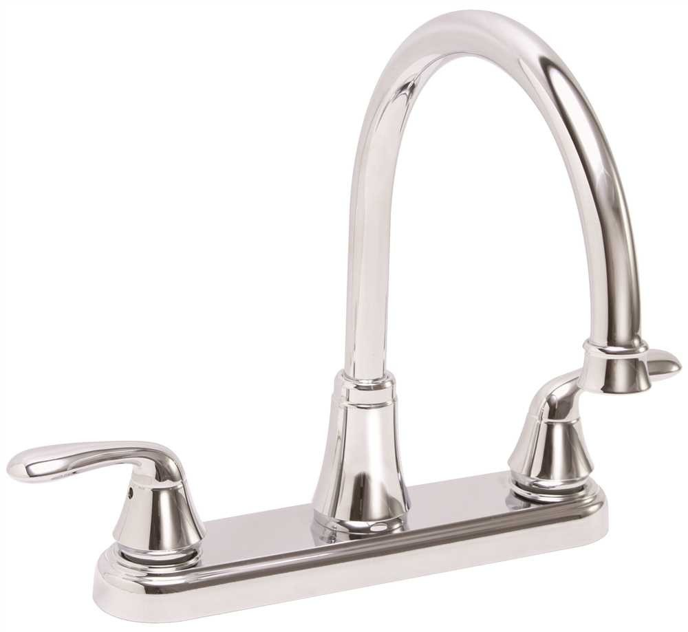 Premier Waterfront Kitchen Faucet With Two Handles Chrome Lead Free
