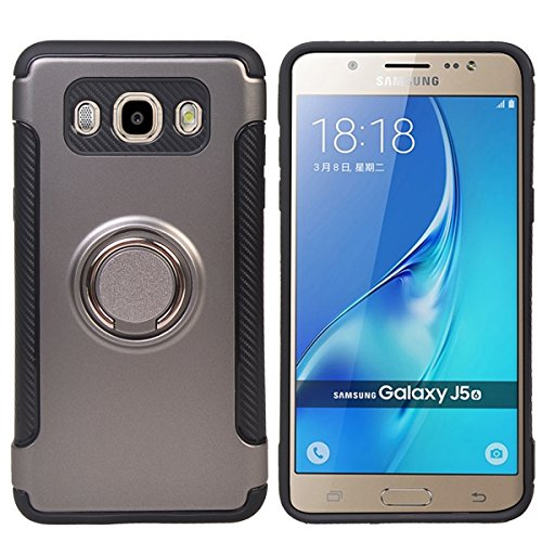 TPU/PC Shockproof Cover Case for Samsung Galaxy J510 J5 2016 (Grey) - 7