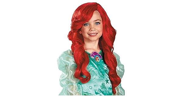 Disfraz Princesa de Disney La Sirenita Ariel peluca Niño: Amazon.es: Bebé