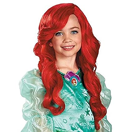 Disfraz Princesa de Disney La Sirenita Ariel peluca Niño