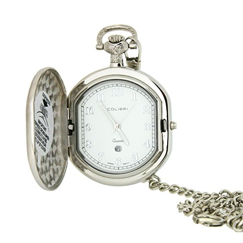 Colibri Pocket Watch Hunting Case with Chain Model #PWQ092008C by Colibri