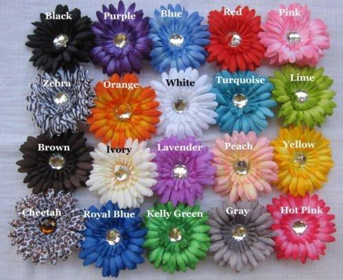 (12) Silk Puffy Gerbera Daisy Heads-4
