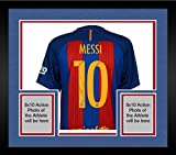 Framed Lionel Messi Barcelona Autographed 2016-2017 Home Jersey - Fanatics Authentic Certified - Autographed Soccer Jerseys